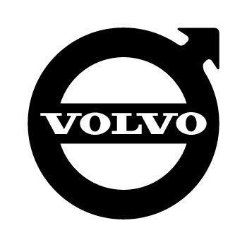 volvo logo transparent sticker volvo 1950 logo