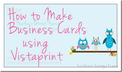 Vistaprint Gift Card - how to make business cards using vistaprint harbour breeze home