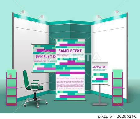 exhibition stand design template exhibition stand design templateのイラスト素材 26290266 pixta