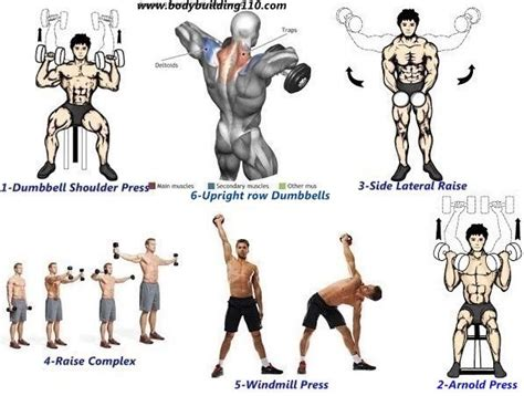 best 6 dumbbells only exercises for big shoulders