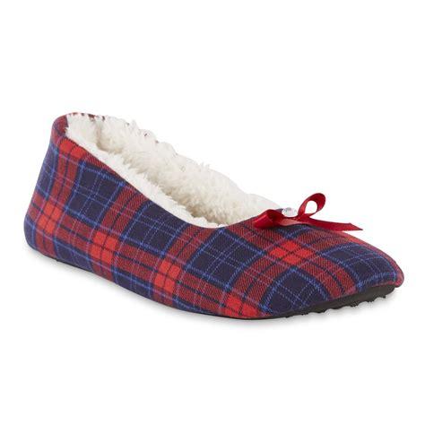 womens plaid slippers smith s dove navy plaid ballet slipper