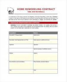 Remodeling Contract Template by Doc 585692 Remodeling Contract Template Sle 7