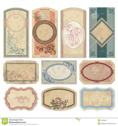 antique labels template vintage labels scrapbook ideas