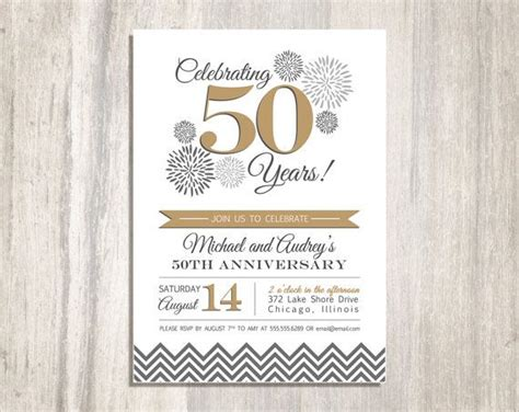 Best 25 50th Anniversary Invitations Ideas On Pinterest Anniversary Invitations 50th 50th Anniversary Templates Free