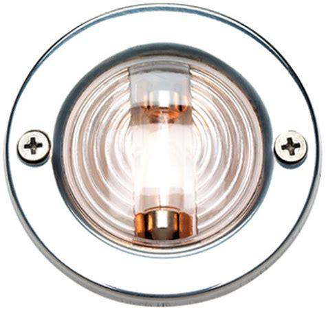 backup boat navigation lights 3 inch diameter stainless steel round transom mount
