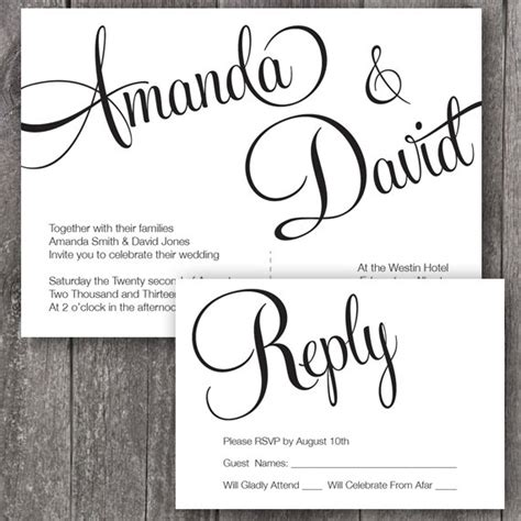free printable wedding invitation templates theruntime com