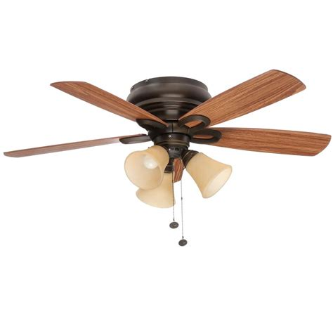 oil rubbed bronze ceiling fan light kit hton bay rothley 52 in indoor oil rubbed bronze
