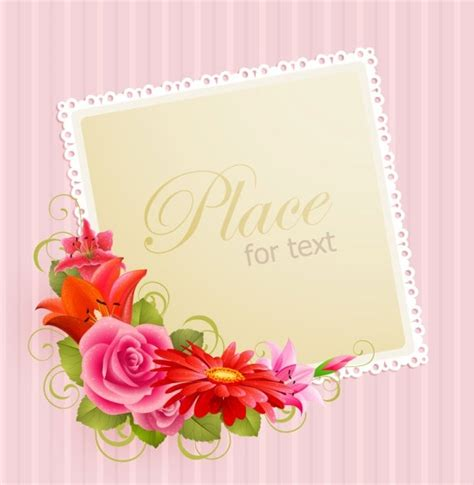 Flower Design Greeting Cards | flower greeting cards 03 vector free vector in adobe