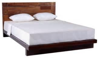 Modern reclaimed wood platform bed modern platform beds grand