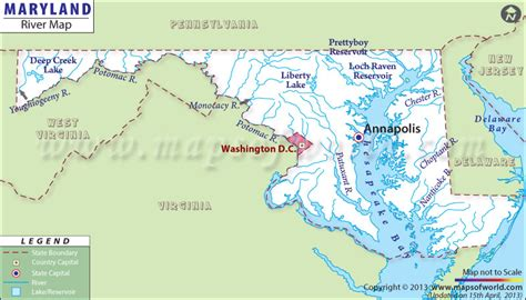 where is maryland in usa map maryland rivers map rivers in maryland