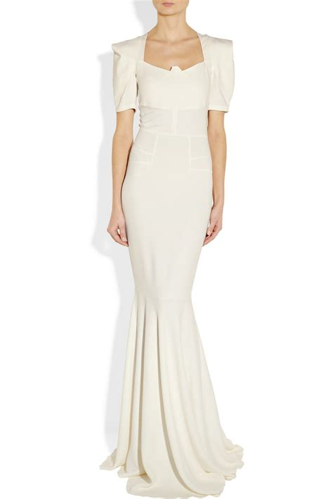 Net A Porter Sale Dressing Like A Just Got Cheaper by Roland Mouret Jansen Stretch Crepe Gown In White