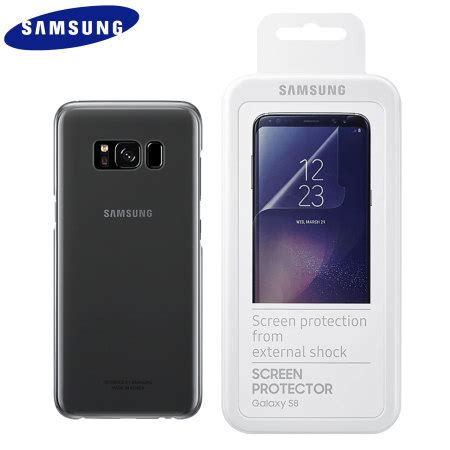 official samsung galaxy  clear cover case screen