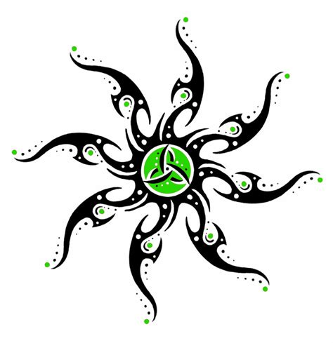 tribal star tattoo awesome fractal tribal sun and designs
