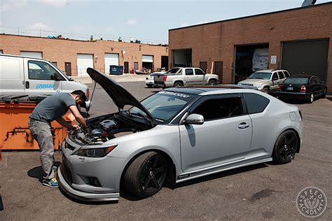 scion tc stock exhaust scion tc dyno test aem cai and dezod motorsports header
