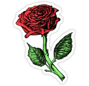 Kids Single Duvet Quot Single Red Rose Quot Stickers By Paul Fleet Redbubble