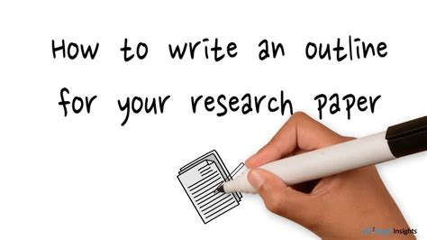 How To Make A School Paper - how to create an outline for your research paper