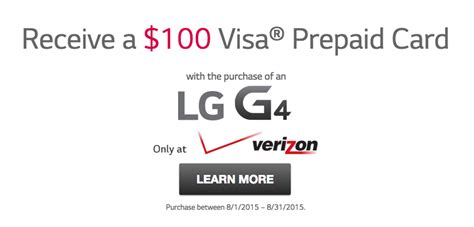 100 Visa Gift Card Uk - lg extends 100 visa gift card offer for lg g4 on verizon to end of august news