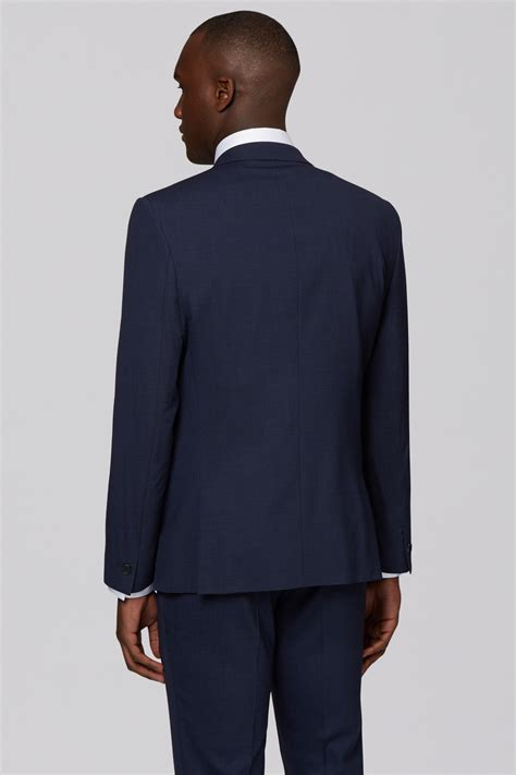 Slim Fit Wool Size 31 dkny mens navy suit jacket slim fit wool two button formal size 38 ebay
