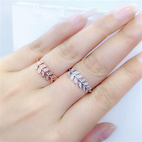 cincin minimalist leaf ring new arrival italina brand knuckle ring fashion