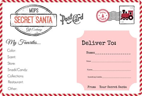 christmas exchange questionnaire mops our secret santa gift exchange all things mops