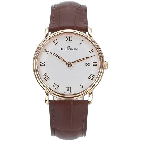 blancpain gold villeret automatic wristwatch at 1stdibs
