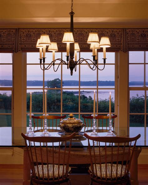 casco bay maine renovation traditional dining room