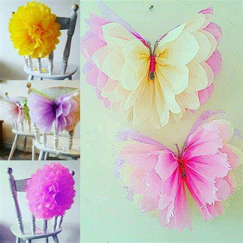 Pom Pom Kertas Uk 25cm wedding birthday decorations tissue paper pompoms