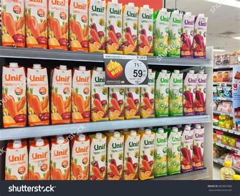 Shelf Of Oranges by Bangkok Thailand July 24 2017 Shelf Stock Photo 682881868