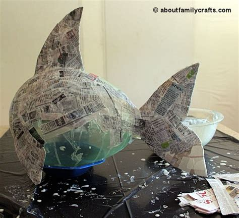 How To Make Paper Mache Fish - make a paper mache pinata fish about family crafts