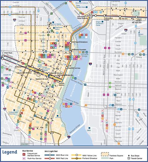 of oregon map of cus trimet map