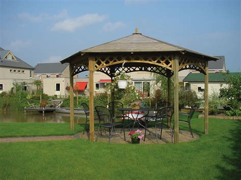 Big Gazebo Large Hexagonal Gazebo 4m Diameter