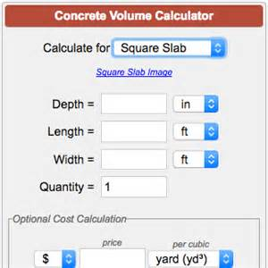 Square Meter To Square Foot concrete calculator