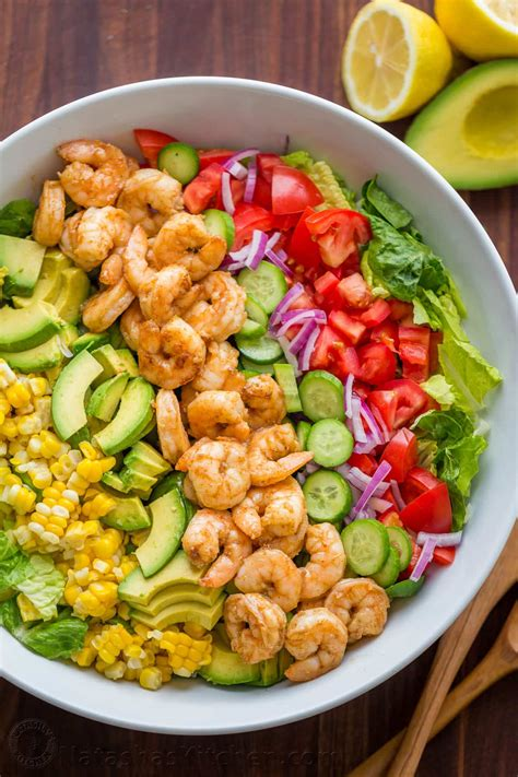easy salad recipe avocado shrimp salad recipe video natashaskitchen com