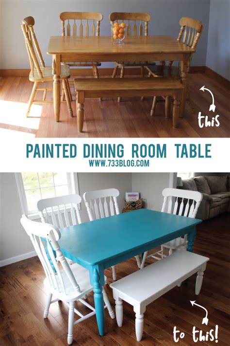 chalky finish paint dining room table makeover