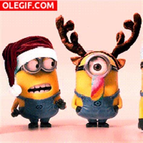 imagenes gif minions gif los minions celebrando la navidad gif 4116