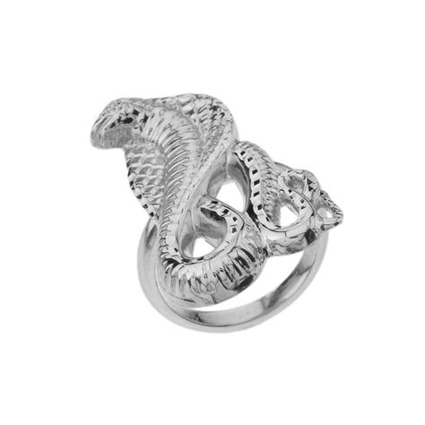 Two Headed Snake Ring by 925 Sterling Silver Cz Two Headed Snake Ring