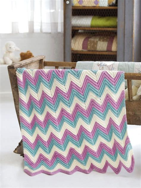 crochet pattern zig zag zig zag baby blanket крючок паттерны волны