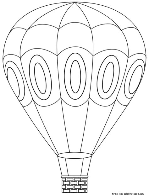 coloring page for hot air balloon free hot air balloon coloring pages