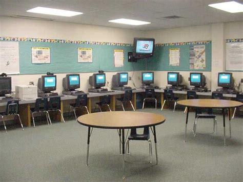 Meja Komputer Lab organisasi bilik darjah berteknologi