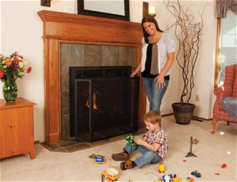 Fire Safety Safety Screen For Gas Fireplace