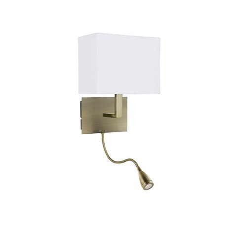 Bedroom Wall Lights Uk Antique Brass Bed Reading Wall Light With Led Bendy Arm Book Light
