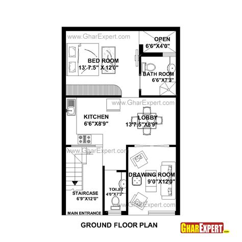 home design 70 gaj house plan for 22 feet by 35 feet plot plot size 86
