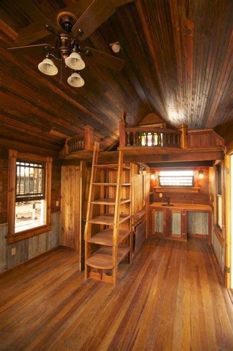 shed cabin project loft ladder