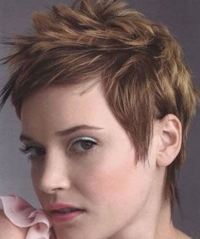 short hair spiked in back with bangs women short spiky hairstyle with short bangs png