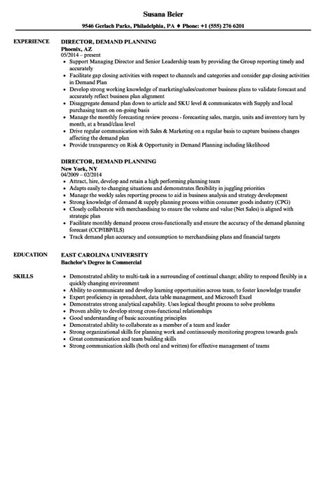 demand planner resume sle director demand planning resume sles velvet