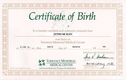 Are Birth Records In Birth Certificates Live Birth Certificate