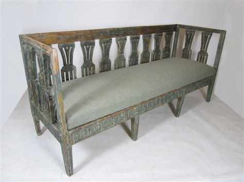 small sofa bench early 19th century painted swedish bench sofa benches