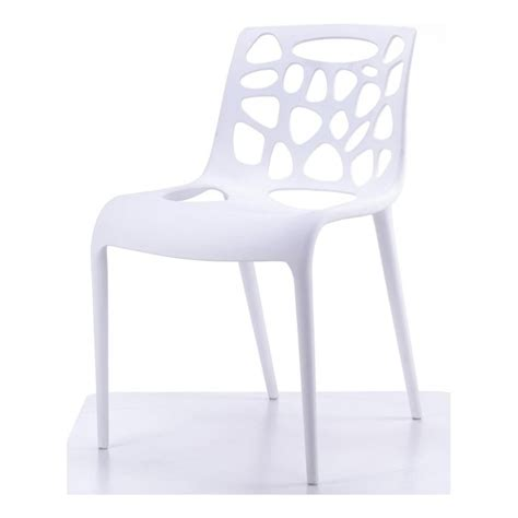 Funky Dining Chair White Plastic Funky Designer Dining Chair From Fusion Living