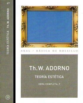 libro teora esttica obra completa teoria estetica librer 237 a concentra