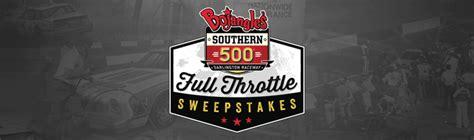 Bojangles Southern 500 Sweepstakes - winwithbo com bojangles southern 500 full throttle sweepstakes